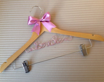 Lovely peg/clip personalised hangers, the perfect gift for brides and bridesmaids - great for strapless dresses too.