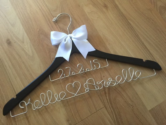 Extra special wire name (heart) name and wire date hanger.... perfect for an engagement and wedding gift.