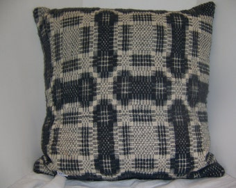 OLD COVERLET PILLOW