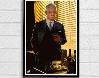 """Mad Men Roger Sterling Pop Art Poster Print #3 Size 11"""" x 17"""""""