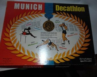 Vintage Munich Decathlon board game 1971 Muckler Enterprizes Sports Olympics