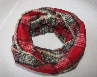 sale red grey plaid baby infinity scarf, Flannel Toddler Infinity Scarf,  Baby Girl Christmas Photo Outfit Fall Winter Fashion