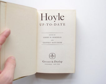 Hoyle Up To Date Official Rules For All Important Games - 1959 - Grosset and Dunlap - Games Books