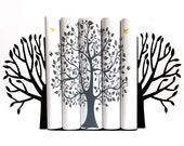 Metal Bookends Spring Tree // modern home decor // housewarming gift // unique design book holders // kids' room decor // Free Shipping