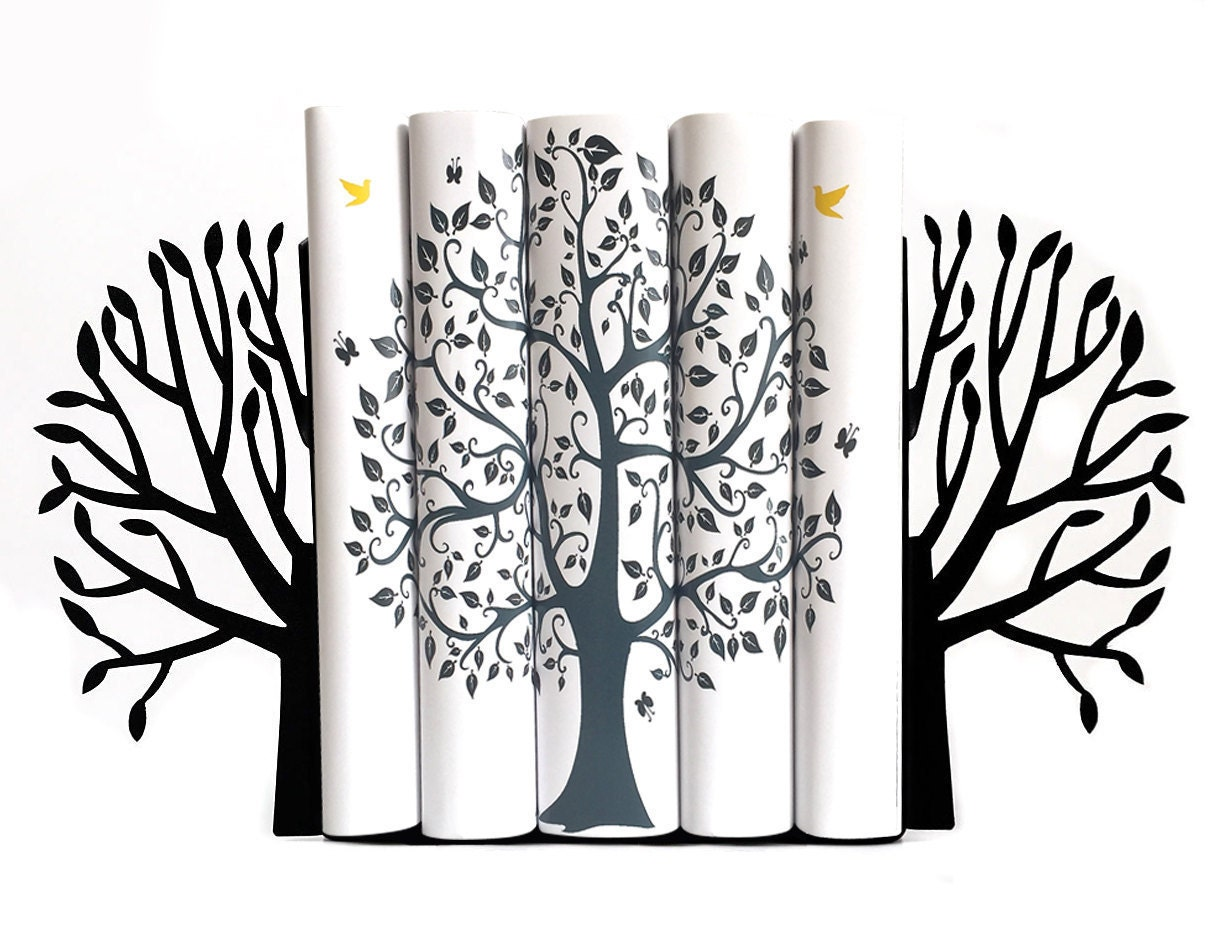 metal bookends spring tree modern home decor