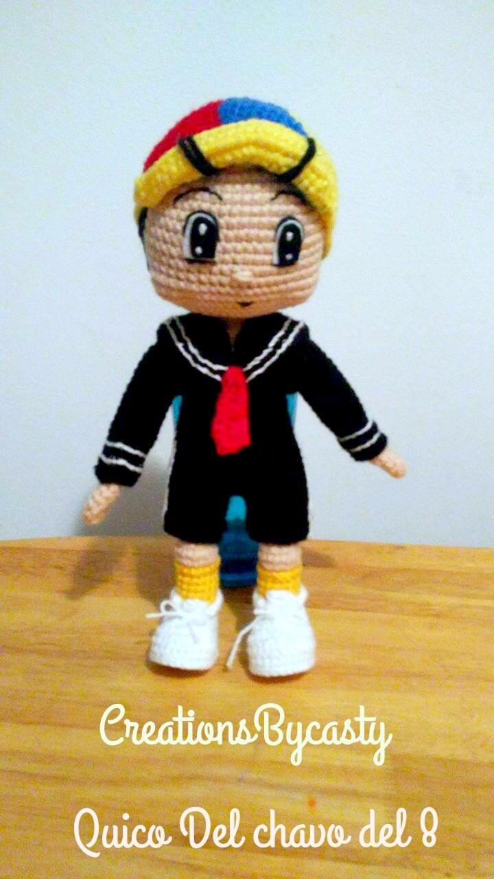 Quico Amigurumi : Quico del chavo del 8 Amigurumi Doll Crochet. by ...