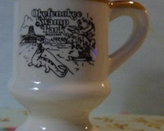 vintage souvenir okeefenoke swamp waycross georgia mini mug