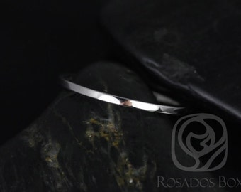 Rosados Box 14kt White Gold Matching Band to ALL Barra/Bella/Kitana/Celeste Sizes Plain Wedding Band