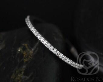 Rosados Box Platinum Band to Marcelle/Blake Prong Set Diamonds HALFWAY Eternity Band