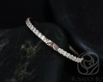 Rosados Box DIAMOND FREE 14kt Matching Band to Eloise 10/9mm White Sapphire ALMOST Eternity Band