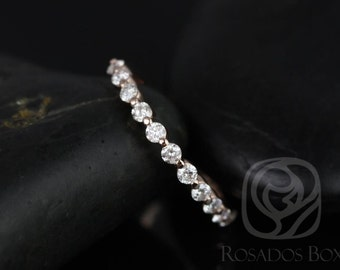 Petite Naomi/Petite Bubble & Breathe 14kt Rose Gold Diamond HALFWAY Eternity Band (Other Metals Available)
