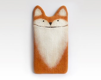 iPad mini  Fox case, custom case, felted red fox,  eco-friendly ipad mini sleeve