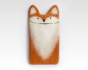 iPad Fox case, iPad mini 2, iPad mini 4, iPad Air 2 case, felted red fox,  eco-friendly