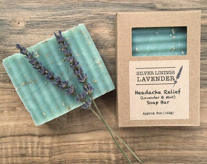 All-Natural Headache Relief Aromatherapy Soap (lavender & mint)