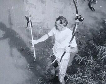 Frog Hunter Vintage Photo