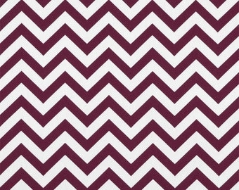 SALE Premier Prints Zig Zag Maroon and White Fabric 7 oz cotton fabric by yardage