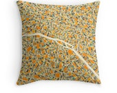 PARIS MAP, Throw pillow for your modern home decor
