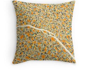 PARIS MAP, Throw pillow for your modern home decor