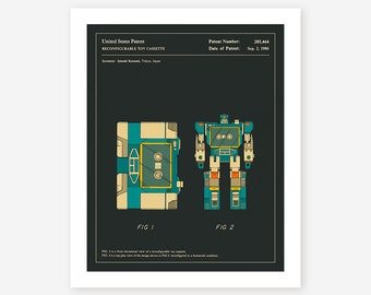 SOUNDWAVE 1986 (Giclée Fine Art Print/Photo Print/Poster Print) dark version