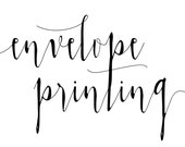 Guest Address Envelope Printing