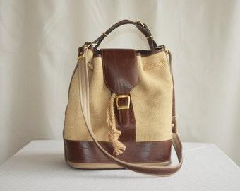 Vintage EXCELLENT Canvas Shoulder / Handbag