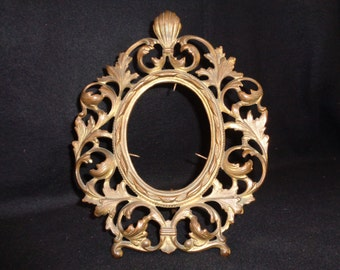Gilded Rococo Oval Photo Frame, Ornate Victorian Frame