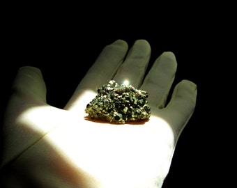 Pyrite Chunk - Raw Pyrite Cluster - Natural Nugget - Fool's Gold Crystals