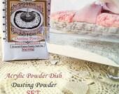 Powder Puff Set, Acrylic Powder Dish, Modern Powder Set