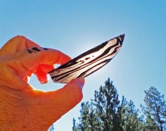 Midnight Lace Obsidian Knife Blade Preform Slab • Knapping Knife Making H69