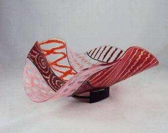 red wave bowl/sculpture