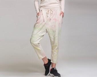 Linen wide leg pants long pants