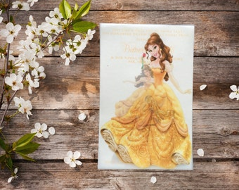 Belle Disney Princess Vellum Invitation Personalized Multi Size Option Physical