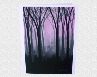 Enchanted Forest Landscape, Blank Fine Art Greeting Card, Stationary, Note Card, Enchanted Forest Party