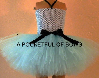 Light Blue Tutu Dress, Toddler Tutu Dress, Girls Cinderella Blue Tutu