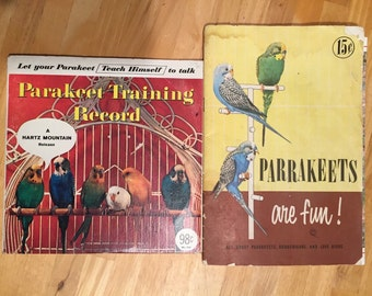 Vintage Parakeet Book and Training Record