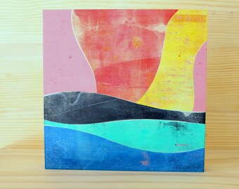Mariah - Original Abstract Acrylic Painting on Wood