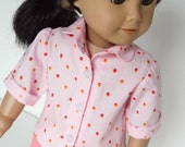18 Inch Doll Clothes -- Pink Blouse -- 1 Piece (5-60)