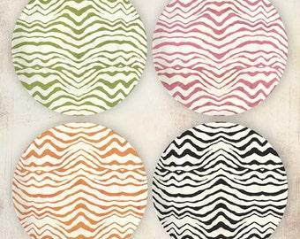 Zebra stripe melamine plate