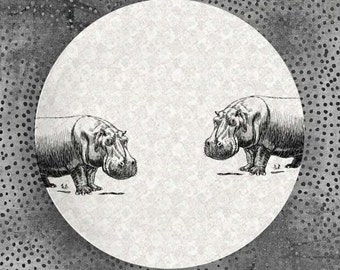 Hippo or Whale melamine plate