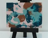 Abstract in Teal  - original ACEO