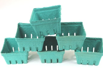 70 Bargain Bin Green Pint Baskets, Pulp Berry Baskets, Recyclable Party Favor Boxes Wedding Gift Baskets, Treats Baked Goods Party Favors,