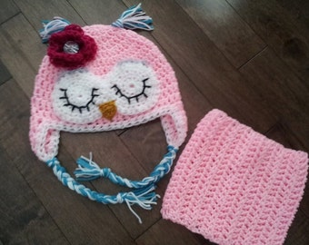 Crochet owl set, any size