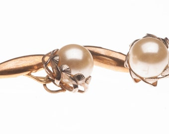 Vintage Faux Pearl Cufflinks