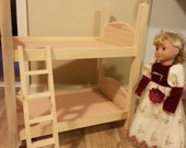 doll bunk bed handmade 18 inch doll size bunk bed unfinished ready to paint
