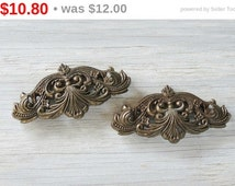 2 Salvaged Furniture Hardware Embellishment Industrial Chic French Farmhouse, Rustic Home Decor Wedding Supplies