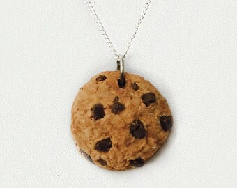 Handmade Chocolate Chip Cookie Charm Necklace