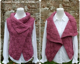 Knitting PATTERN-Twilleys woolly wrap, sleeveless jacket pattern, cardigan  - Listing6