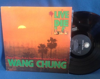 "Vintage, Wang Chung - ""To Live And Die In L.A. Soundtrack"", 80s Rock, New Wave, Party Music, Vinyl LP, Record Album, Original First Press"