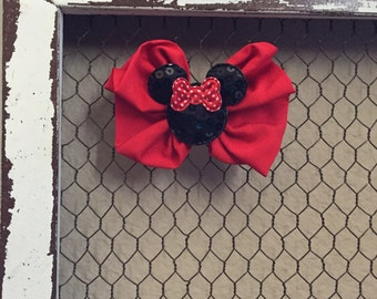 Minnie Mouse Clip big red bow