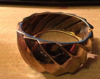 Goldtone Metal Bangle Bracelt